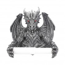 Obsidian Menacing Gothic Dragon Toilet Roll Holder