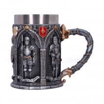 The Vow English Armoured Knight Latin Oath Tankard