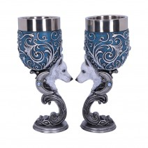 Wild at Heart Twin Wolf Heart Set of Two Goblets