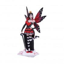 Wonderland Fairies Queen of Hearts Red Card Figurine