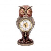 Tick Toot Moving Steampunk Owl Clock