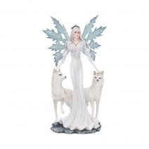 Aura Figurine Winter Fairy Wolf Ornament