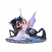 Spirit Bond Purple Pink Unicorn Fairy Companion Figurine