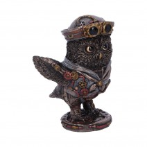 Bronze Come Fly With Me Steampunk Owl Figurine