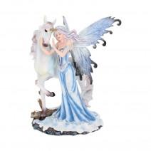 Comfort 21.5cm Ice Fairy and White Unicorn Figurine