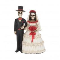 Eternally Yours Figurine Skeleton Wedding Bride Groom Valentine Ornament