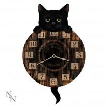 Kitten Tickin' Cat Pendulum Clock