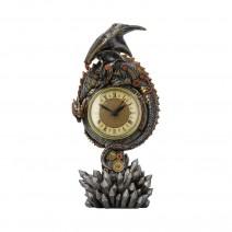 Clockwork Reign Steampunk Dragon Mantel Clock