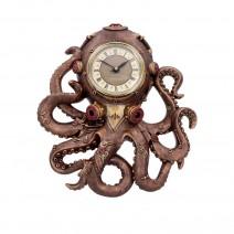 Octoclock Steampunk Octopus Squid Wall Clock