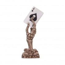 Ace Up Your Sleeve 18.4cm Skeletal Hand and Ace of Spades Card Figurine