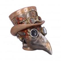 Steampunk Beaky Automaton Apothecary Plague Doctor Bust Figurine