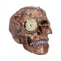 Bronze Scrapped Skull Steampunk Scrap Skeleton Figurine